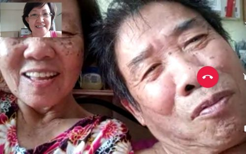 Befriending seniors trying out Whatsapp Video Calls