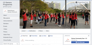 Our recently launched Facebook Group for seniors